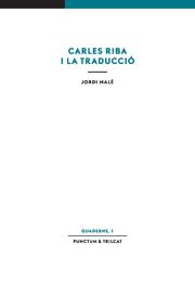 Carles Riba i la traducció
