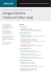 II Simposi sobre traducció i recepció en la literatura catalana contemporània. Llengua literària i traducció (1892-1939)